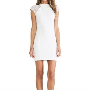 Torn by Ronny Kobo white lace bodycon dress